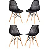 Pack 4/6 sillas, sillas de Comedor Silla de Oficina Silla de salón, Silla diseño nórdico Estilo (03 Nergo)