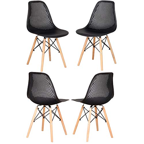 EGOONM Pack 4/6 sillas de Comedor Silla diseño nórdico Retro Estilo-Nergo 03