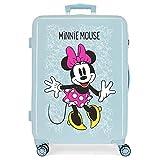 Disney Minnie Enjoy The Day Maleta Mediana Azul 48x68x26 cms Rígida ABS Cierre combinación 70L...
