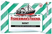 Fisherman's Friend Sugar Free Refreshing Mint Flavor Cough Lozenges, 25g each pack (Pack of 12) by BeautyBreeze
