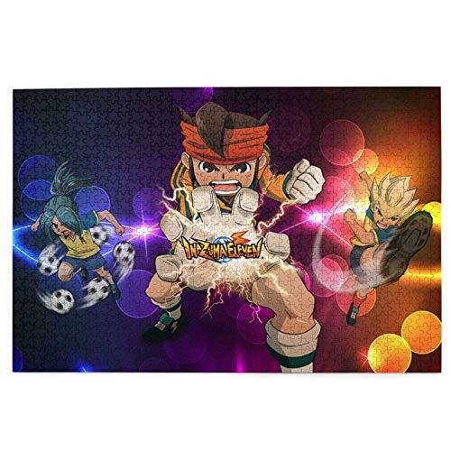 Entertainment Puzzle 1000 Piece,Inazuma Eleven Anime Entertainment Puzzle, Rompecabezas Decorativos para Educación Intelectual,75.5x50.3cm