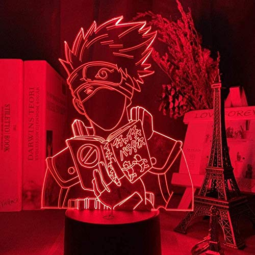 YOUPING 3D Illusion Lamp Led Night Light Japanese Anime Naruto Kakashi Hatake Icha Icha Paradaisu Figure for Kid Room Decor Desk Lamp