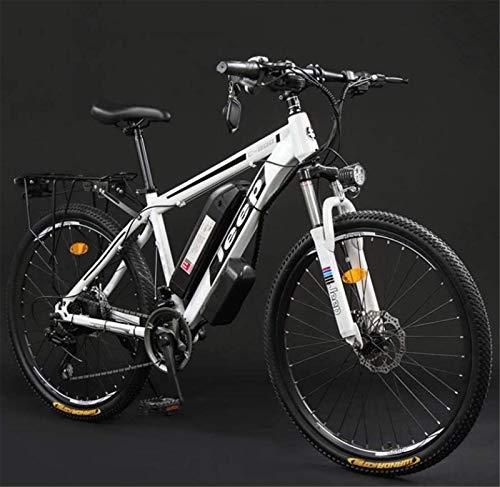 GMZTT Unisex BICICLEY Adulto Bicicletas 26 Pulgadas Electric Mountain, 36V batería de Litio de Alta Velocidad de Acero al Carbono 24 Bicicleta eléctrica, con Pantalla LCD (Color : B, Size : 60KM)