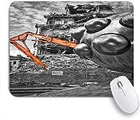 ZOMOY マウスパッド 個性的 おしゃれ 柔軟 かわいい ゴム製裏面 ゲーミングマウスパッド PC ノートパソコン オフィス用 デスクマット 滑り止め 耐久性が良い おもしろいパターン (レトロなデリッククレーン家解体遺跡)