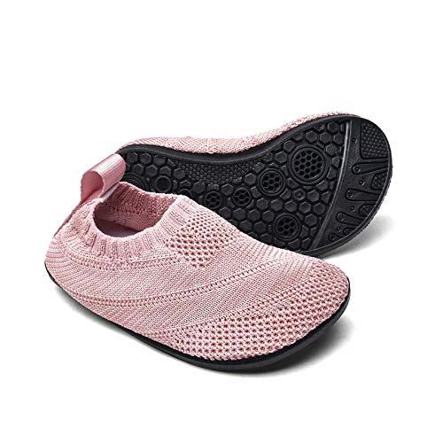 Sosenfer Zapatillas de Estar por casa Kids Slipper Calcetines Zapatos Antideslizantes de Punto para niños y niñas Pantuflas Infantiles Unisex-FENQUAN-23
