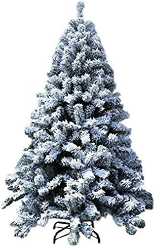 Christmas Tree Artificial Christmas Tree Flocked Decorated with Hinges Premium Metal Pine Stand Home Decorations Christmas utenciles (Size : 6Ft(180CM))