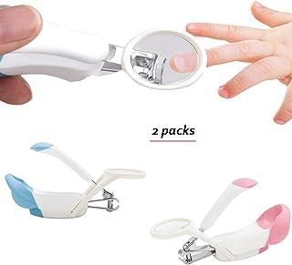 ベビーネイルクリッパー、安全ネイルケア拡大鏡と指紋で生まれたばかりの安定した赤ちゃんはさみ赤ちゃんの爪切り