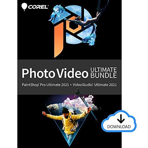 Corel Photo Video Ultimate Bundle 2021 | PaintShop Pro + VideoStudio | Powerful Photo and Video Editing Software [PC Download]