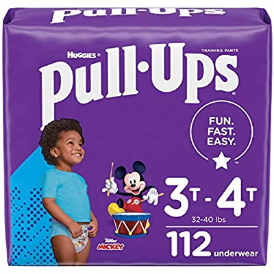 Pull-Ups Boys' Potty Training Pants Training Underwear Size 5, 3T-4T, 112 Ct, One Month Supply from Kimberly-Clark Corp.
