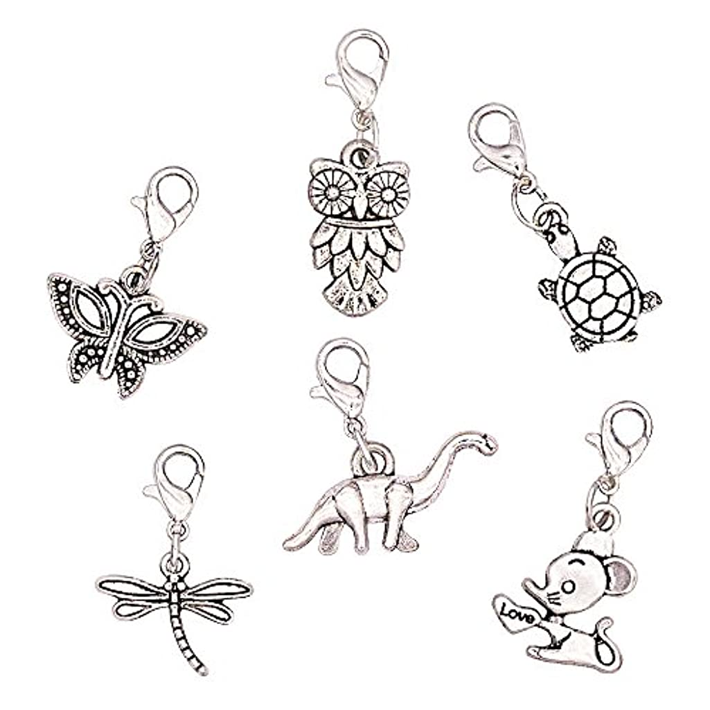 Ascrafter Cute Zipper Pulls Charms- Set of 6 - Knitting Stitch Markers, Crochet Markers, Purse Charms …