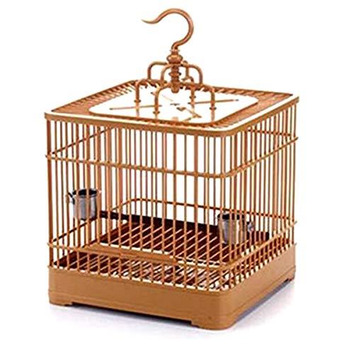 Haokaini Gabbia per Uccelli con Coppe di Alimentazione Appeso Gabbia per Uccelli Gabbia di Volo Gabbia per Uccelli da Viaggio Gabbia per Uccelli con Gancio Pet Bird Carrier for Parrot