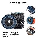 10 unids 10 x 5/8 pulgadas de alta densidad zirconia alúmina disco de aleta plana pulido rueda abrasiva herramientas tipo 27 100 mm