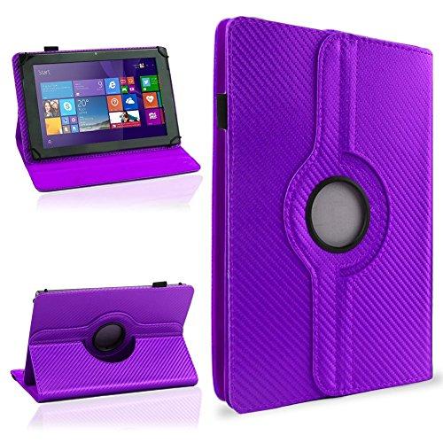 NAUC Schutzhülle für Ihr CSL Panther Tab 10 Hülle Tasche Carbon Cover Tablet Case, Farben:Lila