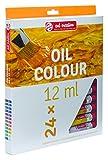 Talens Art Creation–Color de Aceite, 200ml, Verde Hoja de té Set 24 x 12ml Olfarbe