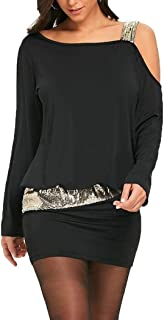 HX fashion Camicetta off Spalla, Blush Dress off Top Spalla Chic Camicetta Camicette Donna Donna Manica Lunga Manica Lunga...
