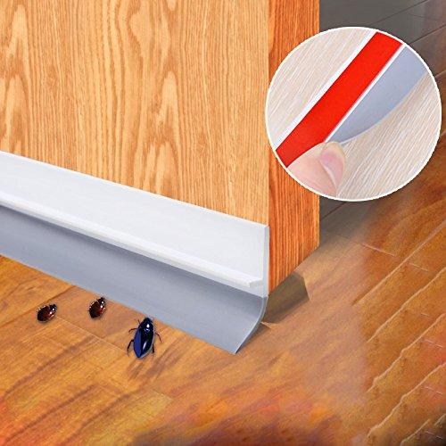 Liveinu Aktualisierung Türdichtungen Selbstklebende Tür Türdichtung Dichtungsstreifen Zugluftstopper gegen Insekt Ersatzdichtung Wetterfest Blocker Schalldichtung Silikon Türstopper Transparent