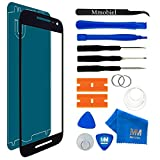 MMOBIEL Front Glass Replacement Compatible with Motorola Google Nexus 6 (Black) Display Touchscreen incl Tool Kit