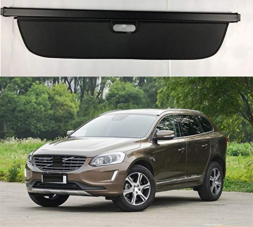 Rear Cargo Cover For Volvo Xc60 2008-2017 Luggage Security Trunk Shield Anti Theft Guard Shade Load Shelf Panel Organizer,Car Accessories Retractable,Black