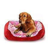 YANRUN Cama Cuadrada De Pana Suave Y Cómoda para Perros, Cama para Gatos, Cama para Mascotas, Todas Las Estaciones Disponibles XXXL 90 * 70 * 15 cm Rosa-YX0002