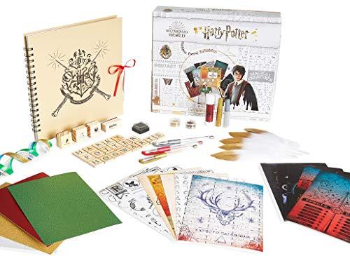 Harry Potter Fotoalbum zum Selbstgestalten, DIY Album Scrapbook Stickers, Fotoalbum Bastel Set 60er Stück, Original Fanartikel, Geschenke für Kinder Teenager Erwachsene