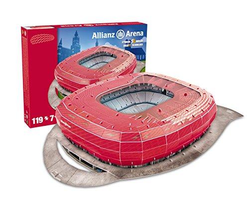 Giochi Preziosi - Nanostad Puzzle 3D, Allianz Arena Bayern Monaco