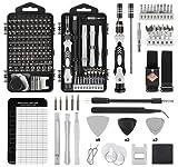 VMAN 145 in 1 Set Cacciaviti Precisione, Kit Cacciaviti Professionali Magnetici con Set Estrattore Viti Acciaio S2, Mini Cacciavite di Riparazione per Smartphone, iPhone, PC, Laptop, Occhiali