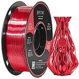 Filamento PLA rojo Ultra Seda 1.75mm, Impresión 3D ERYONE Super PLA Filamento para Impresora 3D y Bolígrafo 3D, 1kg 1 Carrete