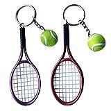 B Blesiya 2pcs Porte-clés Pendentif Mini Raquette de Tennis Créatif Cadeau Bijoux Pas Cher