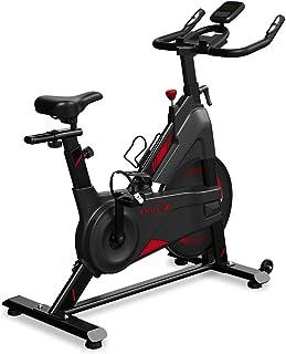 Dripex Heimtrainer Fahrrad, Indoor Hometrainer mit Stahlschwungrad, Magnetbremse, Pulsmesser, LCD-Anzeige und Flaschehalter Benutzergewicht bis 120kg