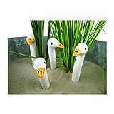 osters muschel-sammler-shop 4 Mini Gänsehälse, Keramik, Höhe 8cm - sehr dekorativ - Hochzeitsgeschenk - Geschenk (1 Pack á 4 Stück)