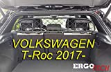 ERGOTECH Divisorio Griglia Rete Divisoria Compatibile con Volkswagen T-ROC, RDA65-HXXS8, per Trasporto Cani e Bagagli