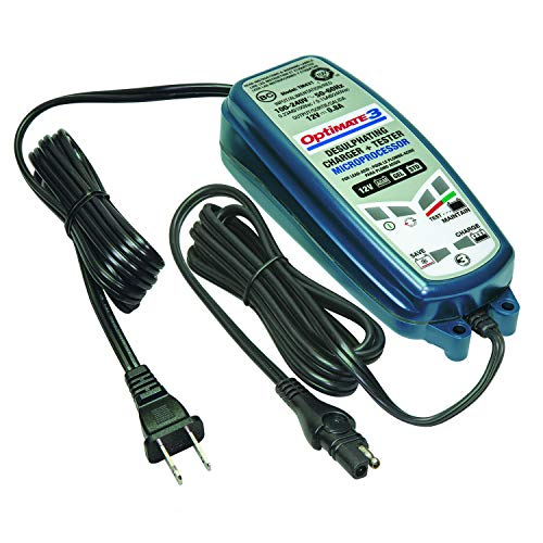 Tecmate Optimate 3, TM-431, 7-Step 12V 0.8A Sealed Battery Saving Charger & maintainer