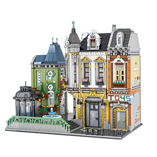Oeasy Modular 2-in-1 Townhouse Toy Store Building Sets, 5477Pcs Creator House Architecture Model, Building Blocks Compatible with Lego