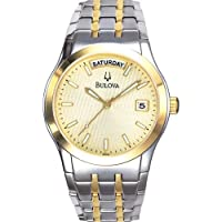 ブローバ Bulova 98C60 Men's メンズ 男性用 Two Tone Dress Watch 時計 腕時計 [並行輸入品]