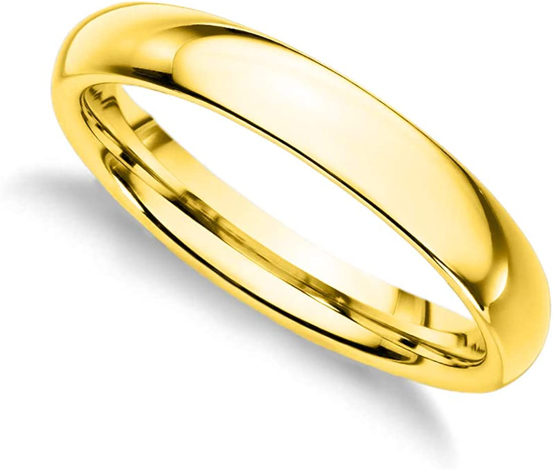 DGS 18k 1 Micron Gold Plated Sterling Silver 3//4//5//7//10 MM Silk Fit Comfort Unisex Wedding Band Ring