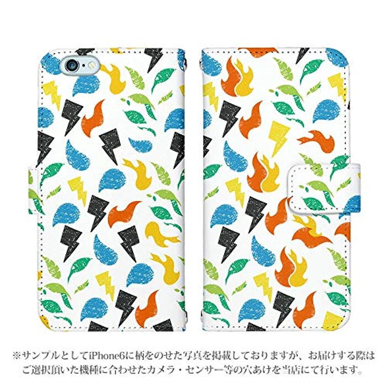 バラバラにするストレージ群衆iPhone XS 手帳型 ケース [デザイン:7.ミックス/マグネットハンドあり] タイプ別マーク アイフォン アイホン iPhoneXS スマホ カバー