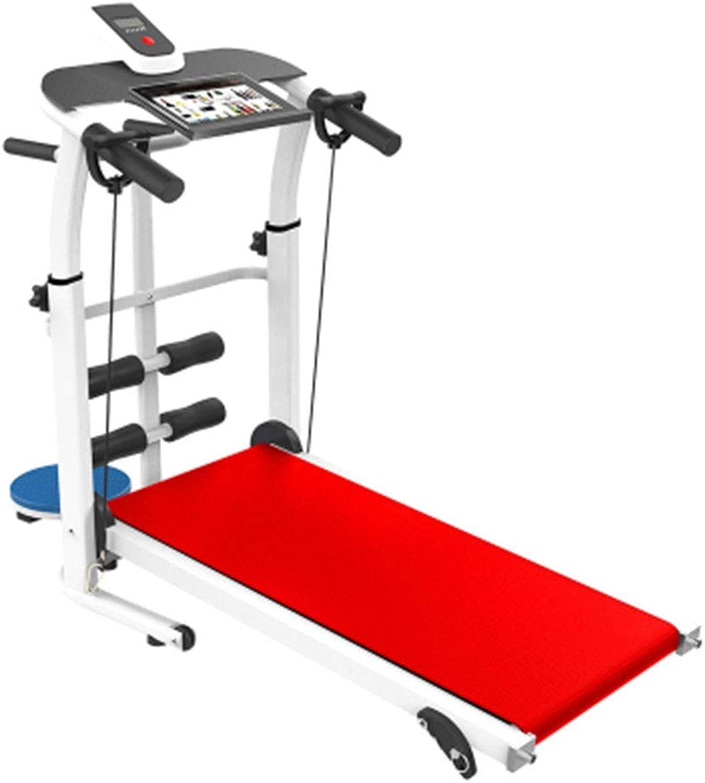 Treadmills Treadmill Folding Mechanical Treadmill MultiFunction Walking Treadmill (color   Red, Size   114x55x117cm)