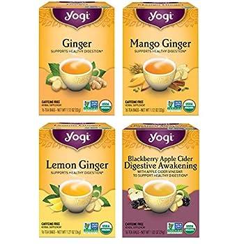 Yogi Tea - Ginger Teas - 4 Pack 64 Tea Bags