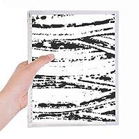 不規則なテクスチャ画法 硬質プラスチックルーズリーフノートノート