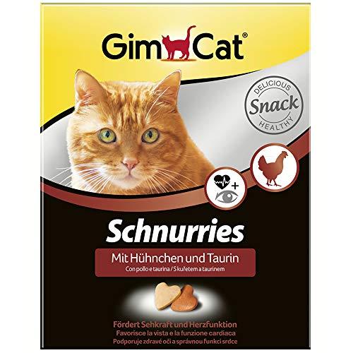 GimCat Schnurries Hühnchen und Taurin - Katzentabs mit funktionalen Inhaltsstoffen fördern Herzfunktion und Sehkraft - 1 Packung (1 x 420 g)