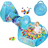 SUNBA YOUTH Kids Ball Pit, Crawl Tunnel and Play Tent, Pop Up Playhouse for Girls and Boys, Babies...