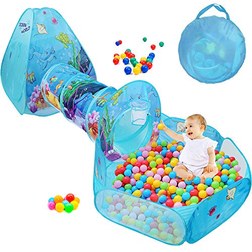 Why Should You Buy SUNBA YOUTH Kids Ball Pit, Crawl Tunnel and Play Tent, Pop Up Playhouse for Girls...