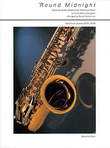 'Round Midnight: Jazz Ballad. 4 Saxophone (AATBar/SATBar). Partitur und Stimmen.
