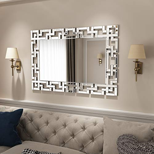 KOHROS Decorative Wall Mirror - Grecian Venetian Design Large Rectangle Wall Mirror for Home/ Hotel (27.5