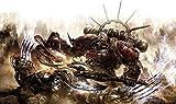 Pintar Por Numeros Adultos Diy Pintura Al Óleo Por Número Kit Pintura Por Número Con Pinceles Lupa Para Decoración De Pared,Videojuego Warhammer-50 x 60cm