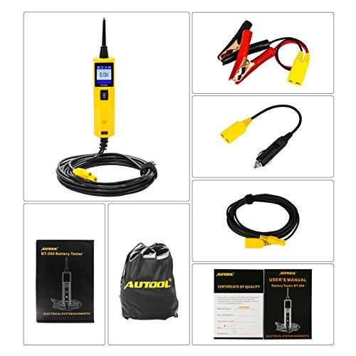 Autool bt260-System Diagnose-Werkzeug 7-30 V Auto Circuit Tester mit LED-Taschenlampe (bt-260 Für 6 V/12 V/24 V Auto/Boot/Motorrad, strapazierfähig, LKW, Kreis -