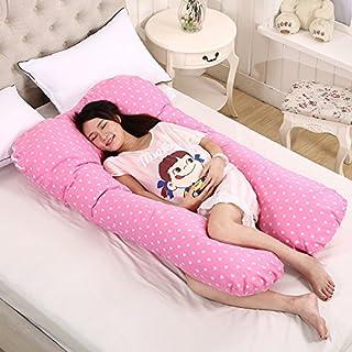 Sunsbell Almohada Embarazo, Cojin Lactancia Embarazada, Apoyo en el Embarazo U Almohada, Almohada de enfermería, Grande Forma de U Almohada Cuerpo Soporte (Rosa)