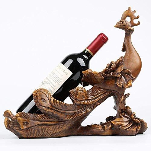 YAeele Decoraciones del Arte del Arte del Pavo Real de la Cocina del gabinete decoración Estante del Vino Vida en el hogar Sala de Vino de Mesa de Comedor