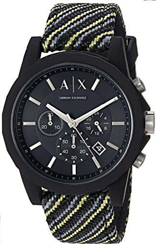 Armani Exchange Reloj Cronógrafo para Hombre de Cuarzo con Correa en Nailon AX1334