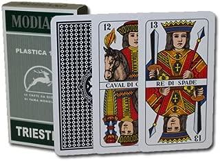Modiano 100% Plastic Triestine Regional Italian Playing Cards. Authentic Italian Deck.